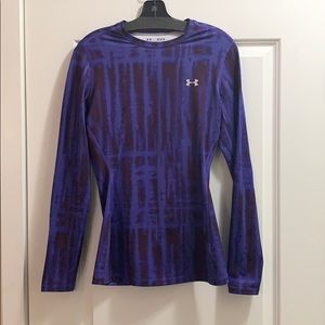 EUC- under Armour fitted, lined, long sleeve top M